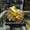 Thiềm Thừ Vàng Lưng Hột Đỏ Xoay Đế A107
