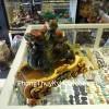 Tỳ hưu cõng con bột đá xanh A073