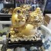 Phật Di Lạc vàng trên hồ lô H244G