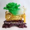 Bắp cải xanh trên túi vàng + giỏ tài lộc K181M