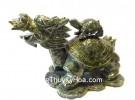 Rùa đầu rồng lam ngọc cõng con GM070