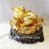 Thiềm thừ vàng kim quanh sen vàng đế sen K138M