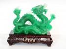 Rồng xanh dáng trườn cầm nguyên bảo G084A