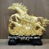 Ngựa vàng phi nước đại trên hồ lô vàng G114A