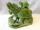 Rùa đầu rồng lam ngọc cõng con lớn GM028