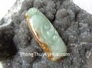 Ngọc bội may mắn Phỉ thúy xanh đậm A+++ S6505-4494