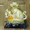 Chó Vàng May Mắn Bên Hồ Lô C005A