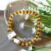 Chuỗi Hổ Phách hạt đĩa nâu vàng trong A  S6356-S4-2549