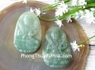 Phật bản mệnh ngọc Phỉ Thúy xanh đậm sắc sảo A+ lớn tuổi Sửu Dần S6864-2