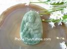 Phật bản mệnh ngọc Phỉ Thúy xanh đậm sắc sảo A+ lớn tuổi Thìn Tỵ S6864-4