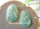 Phật bản mệnh ngọc Phỉ Thúy xanh đậm săc sảo A+ lớn tuổi Dậu S6864-7