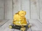 Vua heo vàng kim sa trên túi vàng lớn LN037