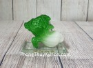 Bắp cải xanh ngọc nhỏ trên đế thủy tinh LN085