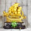 Thuyền buồm đầu rồng vàng kim sa bóng lướt sóng vàng bánh lái xanh ngọc LN139