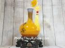 Bình tài lộc cam vàng cổ cao gậy như ý LN205