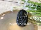Phật bản mệnh đá hắc ngà lớn  – Mão (Văn Thù Bồ Tát) S6844-3