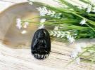 Phật bản mệnh đá hắc ngà lớn  – Tuất, Hợi (A Di Đà) S6844-8