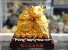 Chuột vàng kim sa ôm túi vàng TM011