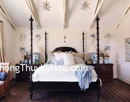 sanh6 Giường lớn có bốn cọc