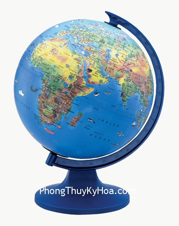 qua dia cau Phong thủy ở Bắc và Nam bán cầu