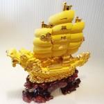 K095M 1 150x150 Thuyền rồng vàng sa kim lớn K095M