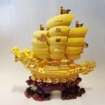 K095M 2 150x150 Thuyền rồng vàng sa kim lớn K095M