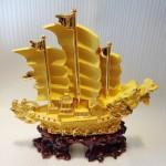 K095M 3 150x150 Thuyền rồng vàng sa kim lớn K095M