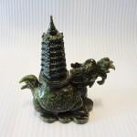 H029 2 150x150 Rùa đầu rồng lam ngọc cõng tháp trung H029