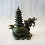 H029 3 150x150 Rùa đầu rồng lam ngọc cõng tháp trung H029