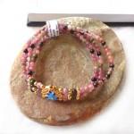 s6279 2 150x150 Chuỗi hồng lục bảo hợp kim hoa sen xanh S6279