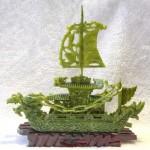 GM130 2 thuyen buom dau rong lam ngoc nho 150x150 Thuyền đầu rồng lam ngọc nhỏ GM130
