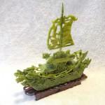 GM130 3 thuyen buom dau rong lam ngoc nho 150x150 Thuyền đầu rồng lam ngọc nhỏ GM130