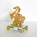 g113a ngua vang nho 1 150x150 Ngựa vàng trên mây vàng đế thủy tinh G113A