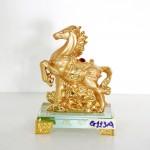 g113a ngua vang nho 150x150 Ngựa vàng trên mây vàng đế thủy tinh G113A