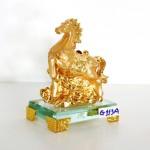 g113a ngua vang nho 2 150x150 Ngựa vàng trên mây vàng đế thủy tinh G113A