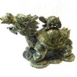 GM070 1 long quy cong con 150x150 Rùa đầu rồng lam ngọc cõng con GM070