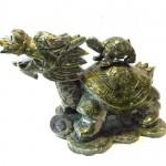GM070 3 long quy cong con 150x150 Rùa đầu rồng lam ngọc cõng con GM070