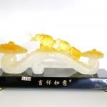 g130a gay nhu y voi 150x150 Gậy như ý có voi trên ngọc vàng trắng G130A