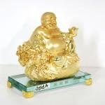 g141a di lac vang tui tien 1 150x150 Phật di lạc vàng ngồi trên túi tiền đế thủy tinh G141A