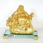 g141a di lac vang tui tien 150x150 Phật di lạc vàng ngồi trên túi tiền đế thủy tinh G141A