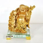 g142a di lac vang quay vang 150x150 Phật di lạc vàng vác xâu tiền vàng đế thủy tinh G142A