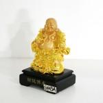 g143a di lac cam nhu y 2 150x150 Phật di lạc vàng đứng gánh như ý xâu tiền đế gỗ G143A