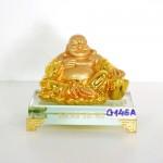 g146a di lac ngoi vang nho 150x150 Phật di lạc vàng tay vịn nén vàng lớn đế thủy tinh G146A
