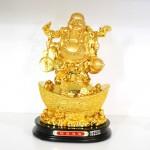 g148a di lac vang lon 150x150 Phật di lạc như ý đứng trên kim bảo lớn G148A