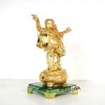 g150a di lac vang 1 150x150 Phật di lạc vàng tay cầm dơi trên hũ kim nguyên bảo (nhỏ) G150A