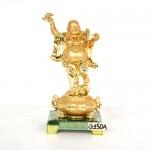 g150a di lac vang 150x150 Phật di lạc vàng tay cầm dơi trên hũ kim nguyên bảo (nhỏ) G150A