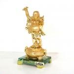 g150a di lac vang 2 150x150 Phật di lạc vàng tay cầm dơi trên hũ kim nguyên bảo (nhỏ) G150A