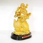 g152a di lac tren ho lo 1 150x150 Phật di lạc vàng cầm cành đào vàng ngồi trên túi vàng lớn G152A