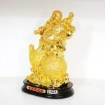 g152a di lac tren ho lo 2 150x150 Phật di lạc vàng cầm cành đào vàng ngồi trên túi vàng lớn G152A
