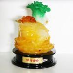 g160a coc cong cai vang 1 150x150 Thiềm thừ ngọc vàng cõng cải xanh (lớn) G160A